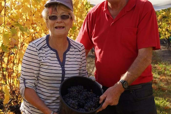 Adoptive parents and their grapes. Well done.